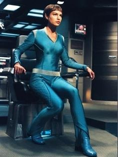 T'Pol from Star Trek: Enterprise. Nice ears. Rest of her is pretty hot too and she knows it. It's coolest when someone is really hot but doesn't know it at all. She and Bakula made the show worth watching.