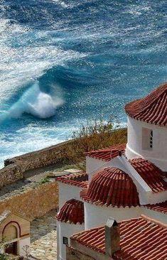 Monemvasia, Greece My roots my home Santorini, Mykonos, Wonderful Places, Beautiful Places, Monemvasia Greece, Places In Greece, Beau Site, Greek Isles, Greece Islands