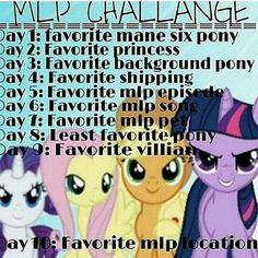 """""""Im just going to do this now  1.) Rarity 2.) Princess Luna 3.) Derpy 4.) Appledash  5.) All of them 6.) Opening theme 7.) Winona 8.) Twilight Sparkle 9.)…"""""""