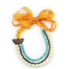 Tangerine necklace from Bellissima Jewelry Design
