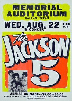 Jackson 5 Memorial Auditorium - Texas - Mini Print