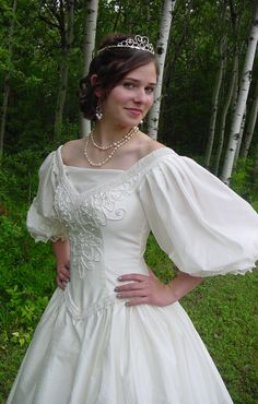 Cavalier 1700s Wedding dress with lots of beading and mask. $249.95, via Etsy.