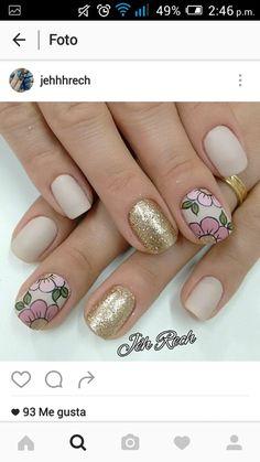 Uñas Cute Nail Designs, Cute Nails, Nailart, Make Up, Beauty, Beautiful, Style, Sour Cream, Nail Bling