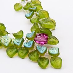 Green Necklace  Vintage Style  Spring by CherylParrottJewelry, $149.95