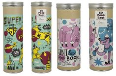 Funky poop bag packaging