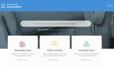 Check out the beautifully blue Help Center by Mavenlink.