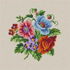 Summer Floral cross stitch pattern