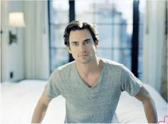 I wish Matt Bomer was sitting at the edge of my bed <3