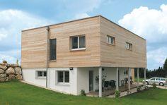 m-haus mit Holzfassade in Gmunden. #holzbauweise #holzhaus