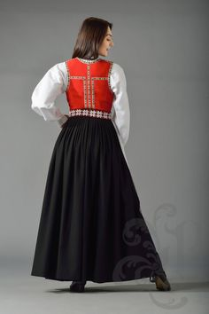 Sunnhordaland bunad, Hordaland Hardanger Embroidery, Ethnic Fashion, Clothing Styles, Victorian Era, Cute Designs, Folklore, Regional, Traditional Outfits, Norway
