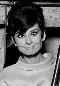 Funny Face ❤ Audrey Hepburn on the set of How to Steal a Million (you knew she had a sense of humour, didn't you?).