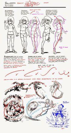 Dinamism on drawings