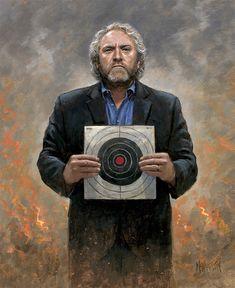 Patriotic - Political - Andrew Breitbart - No Fear - McNaughton Fine Art Jon Mcnaughton, Sandy Hook, Great Awakening, Moment Of Silence, Canvas Signs, Fake News, Politics, In This Moment, Fine Art