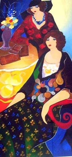 The 2013 Salon Series coming soon....to New Jersey. Feb. 21 Unlocking the Key to your Heart. http://www.floschell.com/ ('Debbie and Donna' by Itzchak Tarkay):