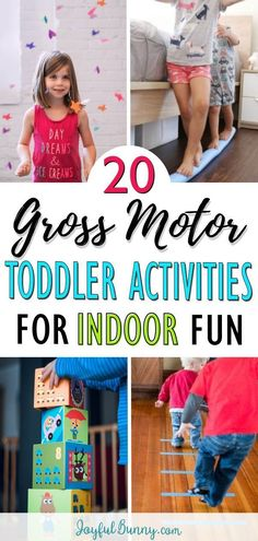 20 fun and easy gross motor play ideas perfect for a rainy day. Indoor toddler activities that get your toddler moving and help develop their body and mind. activities for kids toddlers 20 Toddler Activities for Energetic Fun on Rainy Days Indoor Activities For Toddlers, Toddler Learning Activities, Sensory Activities, Infant Activities, Learning For Toddlers, Fun Rainy Day Activities, Educational Activities For Toddlers, 3 Year Old Activities, Exercise Activities
