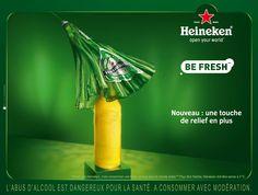 HEINEKEN - Be Fresh Camera Supplies, Beer Poster, Beer Packaging, Advertising, Ads, Beverages, Drinks, Wine And Beer, Beer Bottle