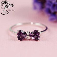 Bow ring. Made from geunine gemsstone  Ship worldwide  Contact : gems.sister@gmail.com