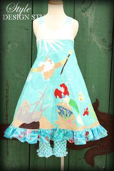 Little Mermaid Ariel Dress and Leggings sizes by StyleDesignStudio, $270.00