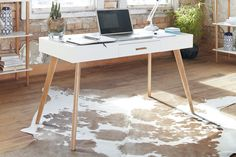 Stuka Home Office Desk with Drawer by Paulack Furniture