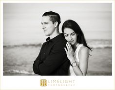 Sand Key Park, black and white engagement session, limelight photography, www.stepintothelimelight.com