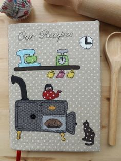 SewforSoul: Appliqued Fabric Journal Cover