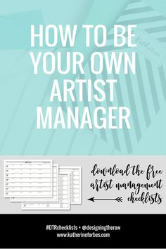 how to be your own artist manager [free downloads]