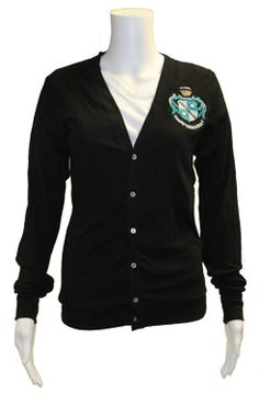Rock the crest on this retro cardigan. Great recruitment-wear. $28