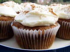 Pumpkin Cupcakes with Cream Cheese Frosting...