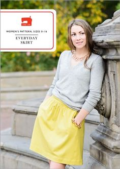 Everyday Skirt: Digital - Sewing pattern from designer Liesl and Co - A 'print at home' PDF download.