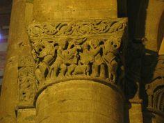 Capitelli interni delle chiese di San Michele maggiore a Pavia caino e Abele