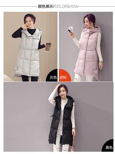 Увеличение жира мм было тонкой хлопчатобумажной жилеткой утолщенной пуховой хлопчатобумажной жилетки в длинном пальто женского зимнего пальто женщин - Taobao