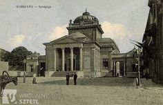 The Great Synagogue of Warsaw in Tłomackie Street, Tłomackie 4  Heritage Sites - Warszawa - Virtual Shtetl.  Destroyed by the SS and never restored.