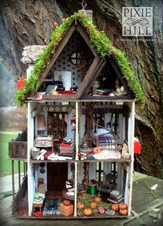 The Storyteller's House An Airy Fairy Fantasy by PixieHillStudio. $545.00, via Etsy.