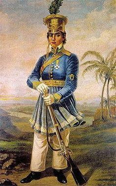 """Mulheres OusadasY❤B <> MARIA QUITÉRIA, chamada de """"Joana d'Arc brasileira"""". Militar, heroína da Guerra da Independência."""