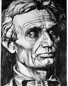 Stanisław Szukalski, Polish-American Abraham Lincoln, c. Halloween Mural, Art Inspiration Drawing, Art Base, Abraham Lincoln, Surrealism, Mythology, 1940s, Sketches, Sculpture