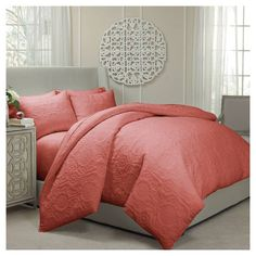 Vue Barcelona Quilted Coverlet and Duvet Ensemble. Image 1 of 2.