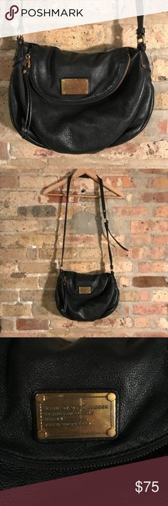 Marc Jacobs black leather purse Well loved but still in good condition Marc Jacobs Bags Crossbody Bags