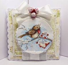 Good evening all. Another Christmas card using one of my fav stamps by Stampendous - the gorgeous...