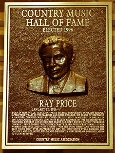 Country Music Hall of Fame Plaques   Ray Price - If She Could See Me Now