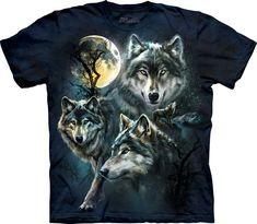 Collage lobos de luna. #3309