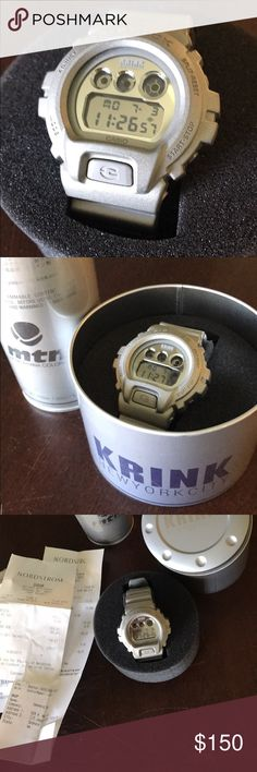 KRINK edition Casio G Shock Watch Limited Edition Casio G Shock watch, KRINK edition. KR, or Craig Costello, is the founder of KRINK, high quality graffiti inks and had the opportunity to collaborate with G Shock a number of years ago. What you are looking at is something rare, that sold out quickly. Come get a cool piece of Graf history. Can not included. Will sell separately for $200 Casio Accessories Watches