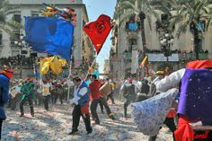 Top 10 Carnival traditions: Candy Wars, Vilanova Carnival, Spain. Photo by KARELL MARTINEZ
