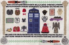 Doctor Who cross stitch