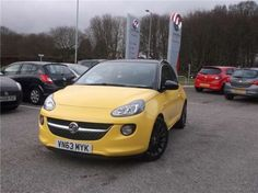 Used 2013 (63 reg) Yellow Vauxhall Adam 1.4i Glam 3dr for sale on RAC Cars