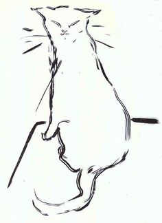 "The Cat, brushwork drawing for ""Histoires naturelles"" / Pierre Bonnard"