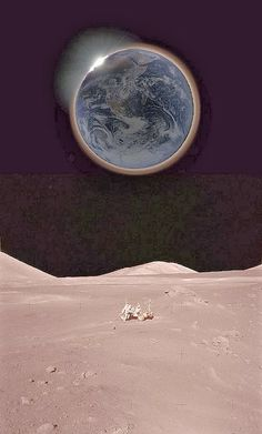 Earth from the Moon (wouldn't that be AWESOME to be on the Moon & see an EARTH ECLIPSE?!) - The Bucket List Life