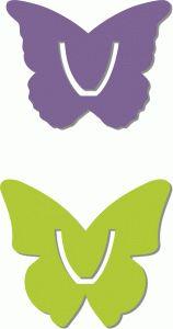 Un molde para un marca páginas de unas mariposas.