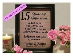 15 Years of marriage 15th wedding anniversary 15 by Peppertwigs
