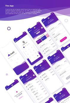 Audit - Finance App Concept on Behance - Anthony Gilliam - Finanzen Ios App Design, Mobile App Design, Web Mobile, Android App Design, Web Design, Mobile App Ui, Android Ui, App Login, Application Design