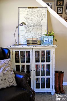Bless'er House | DIY Oversized Vintage Irish Map Restoration Hardware KnockOff